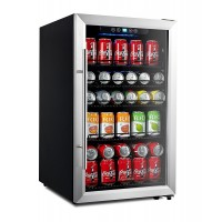Kalamera 4.2 Cu.Ft 150-Can Beverage Refrigerator With Stainless Steel Door And Touch Control