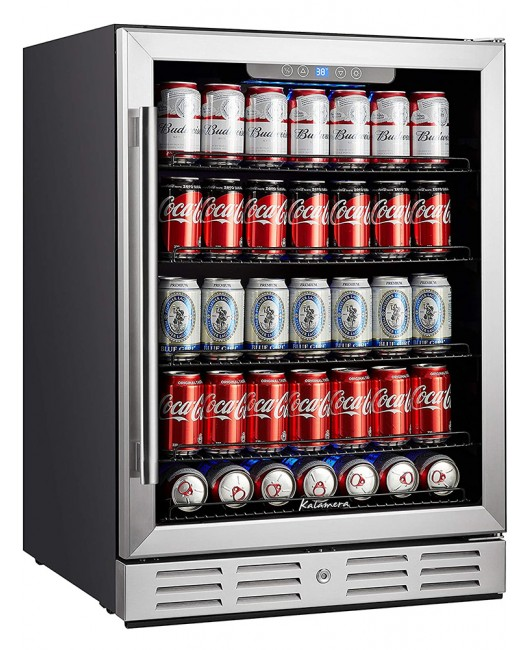 "Kalamera 24"" Built-in 5.3 Cu.ft 175 Can Single Zone Beverage Refrigerator"