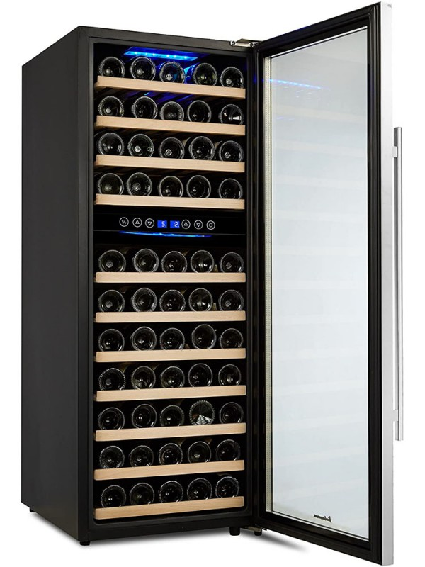 Kalamera 6.7 Cu.ft 73 Bottle Compressor Wine Cooler Dual Zone with Touch Control & Stainless-steel door