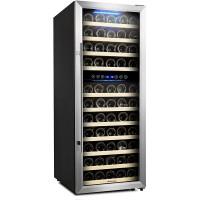 Kalamera 6.7 Cu.ft 73 Bottle Touch Control Compressor Wine Cooler Dual Zone