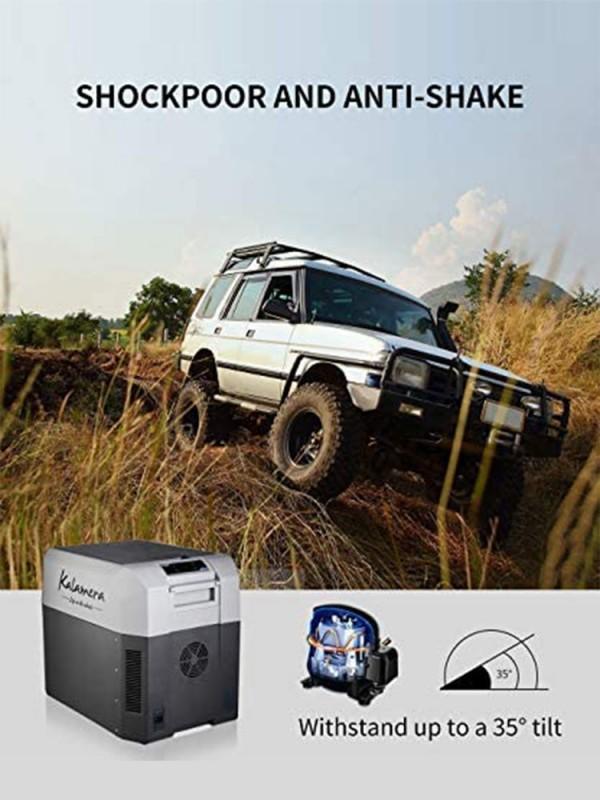 26 Quarts Portable Refrigerator Freezer Compact Compressor DC Mini Fridge for Car, Office & Camping