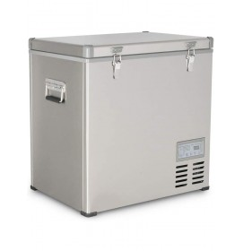 Kalamera 2.3 Cu. ft 60 Quart Portable Refrigerator/Freezer Stainless-steel AC 110V / DC 12/24V