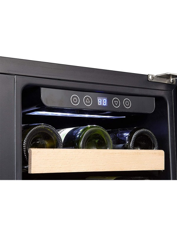 Kalamera 30'' Built-in 6.0 Cu.ft 66 Bottle Two-Door Dual Zone Wine Cooler with  Stainless-Steel and Glass French-Door