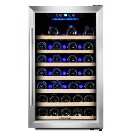 Kalamera 4.2 Cu.ft 50 Bottle Single Zone Wine Refrigerator with S/S door and handle