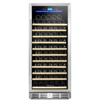 "Kalamera 24"" 127 Bottle Built-in Wine Cooler Fridge Single Zone Wine Refrigerator"