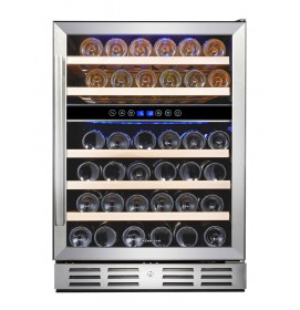Kalamera 24'' Built-in 46 Bottle Dual Zone Wine Cooler