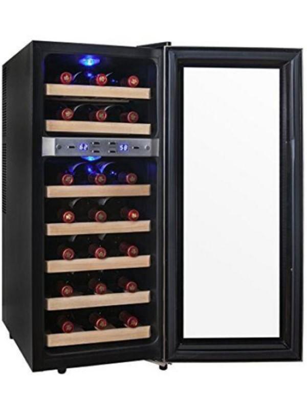 Kalamera 21 Bottle Dual Zone Thermoelectric Freestanding Wine Cooler Fridge