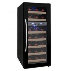 Kalamera 21 Bottle Dual Zone Thermoelectric Freestanding Wine Cooler Fridge